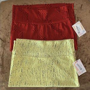 Bundle of 2 New LulaRoe skirts
